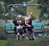 11S 7269  Antionette & the Wiz    (queries: zenophon@velocitynet.com.au) : Antionette & the Wiz, Chairlift, Thredbo 2011